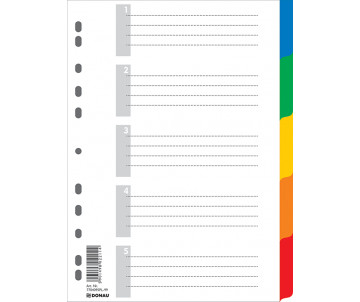 Index-the digital divider A4 5-POS., color., with the letter of the description