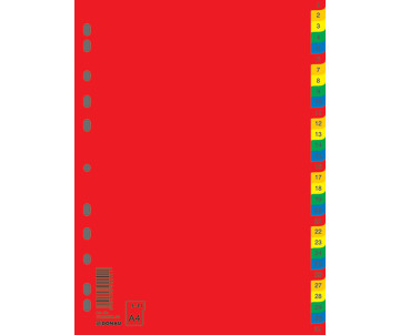 Index divider A4 digital, 31 POS., color