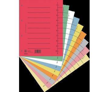 Index divider A4 (100pcs.), cardboard, assorted