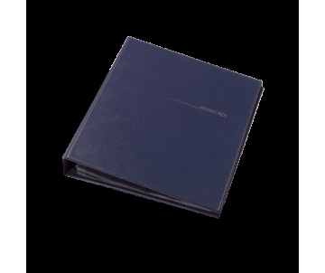 Business card holder 400 cards on the rings vinyl dark blue