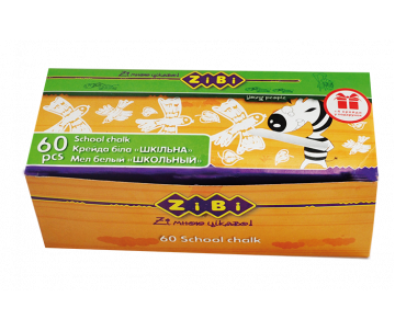 Chalk white 60pcs., cardboard box