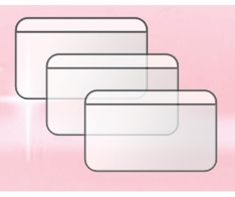Cover for dual cards (PVC)