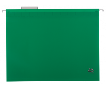 A4 hanging file, plastic, green
