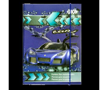 Папка для зошитів CAR, картонна, на гумках В5+ (175х240х25мм)