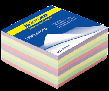 Block of paper for notes not glued 80x80 mm 30 decor