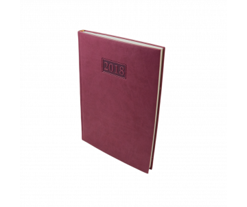 Diary dated 2018 GENTLE Torino A4 336 pages, Burgundy