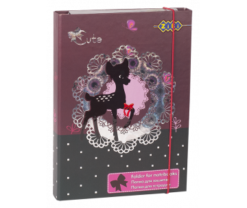 Folder for notebooks CUTE, cardboard, elastic bands B5+ (175х240х25мм)