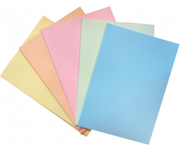 Colored paper PASTEL A4 5 col 250 sheets