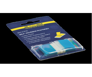 Bookmarks are plastic with adhesive NEON POP-UP 45x25 mm 50 sheets blue