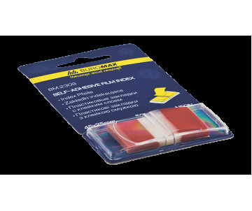Bookmarks are plastic with adhesive NEON POP-UP 45x25 mm 50 sheets red
