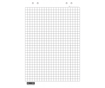 Папір для фліпчартів 20 арк клетка  64 х 90 см BM.2297