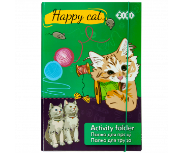 Папка для праці HAPPY CAT А4+ ZB17-14909