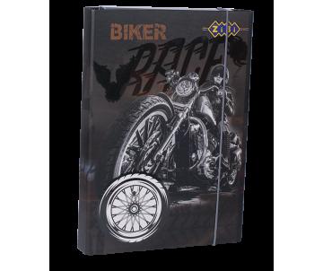 Folder for work BIKER, cardboard, elastic bands A4+ (315х215х30мм)
