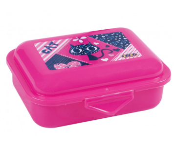 Container for food, 138*104*54mm, pink