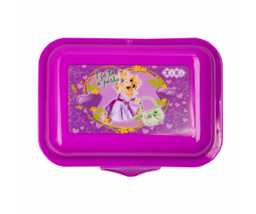 Container for food 138*104*54mm purple