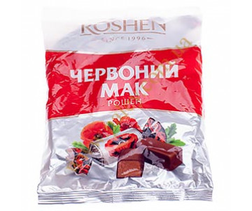 Candy chocolate Red poppy 155g. (Made in Ukraine )