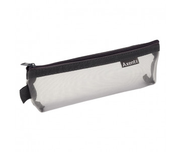 Pencil case with zipper grey 1494-03-A