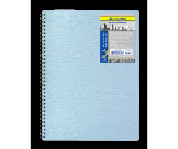 Notebook on the spring's Metallic B5 80 sheets cell silver plastic cover