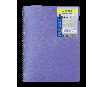 Notebook on the spring's Metallic B5 80 sheets cage purple plastic back cover