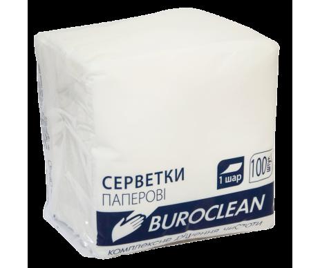 Серветки 100л.білі Buroclean
