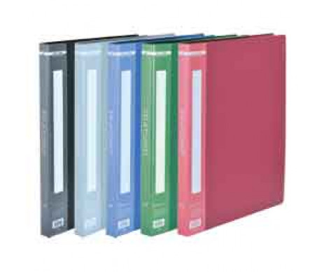 Folder with 30 files A4 blue Buromax
