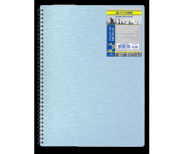 Business notebook A4 80 sheets cell plastic back cover spring blue
