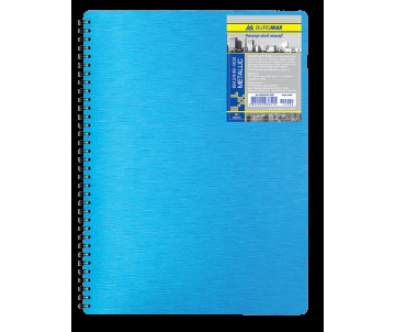 Business notebook A4 80 sheets cell plastic cover on the spring metallic