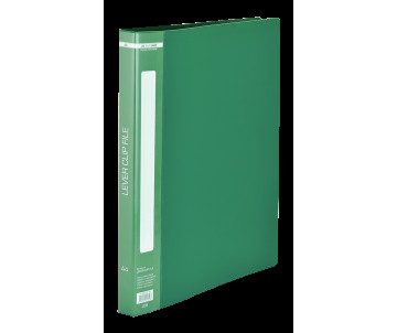 Folder A4 with side clamp, green