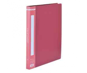 A4 folder with side clip, red