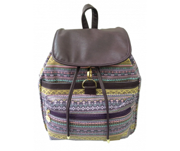 Backpack Baggy PURPLE ETHNO