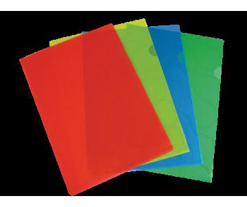 Папка-кутик OMEGA A4 PP, асорті