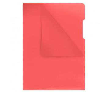 Папка-уголок А4 180 мкм красный