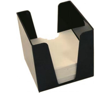 Куб для бумаги 9х9х9 черный 39109