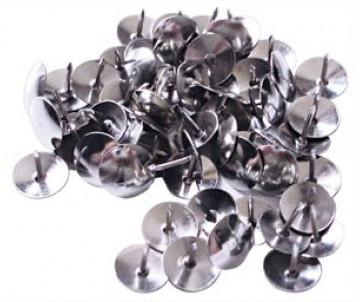 Кнопки 50 шт никель 4OFFICE 4-332