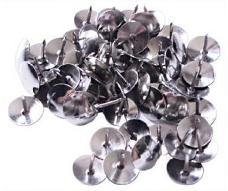 Кнопки 50 шт нікель 4OFFICE 4-332