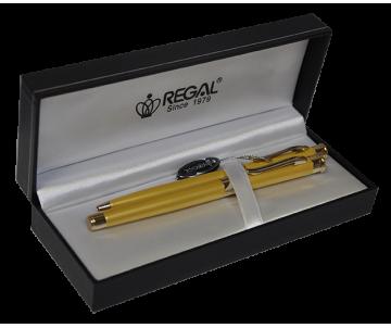 Набір ручок в подарунковому футлярі L золото R68001 REGAL