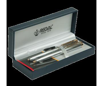 Набір ручок в подарунковому футлярі L хром R22109 REGAL