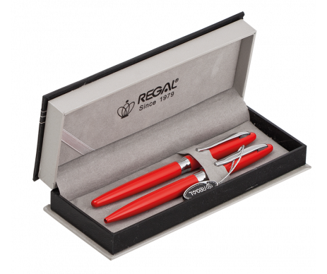 Pen set in gift box R red