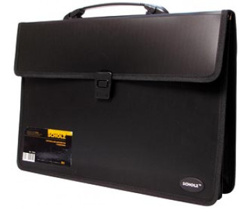 Portfolio V4 2 compartments black 63001