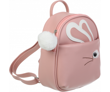 FUR RABBIT peach backpack ZB 702301