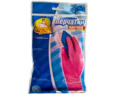 Durable rubber gloves M pink 79262