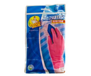 Durable rubber gloves (L) pink 79263