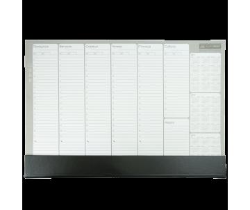 Настольный недатированный планинг 52 листов PVC 420x290 мм черный