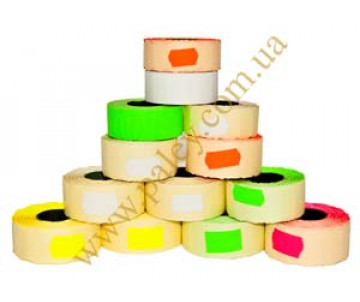 The price tags for label-gun 22*12mm figure color 1000 PCs