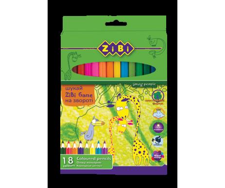 Олівці кольорові 18 кольорів PROTECT Zibi