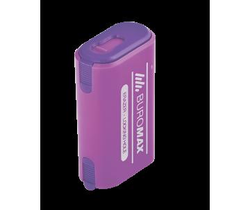 Sharpener large eraser plastic case container Buromax 4753