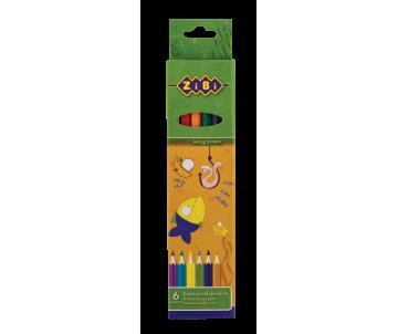 Crayons 6 colors Zibi