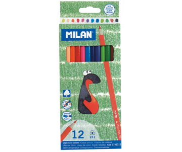 Colored pencils 12 PCs triangular MILAN