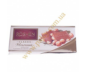 Chocolate Roshen milk with nuts 80435
