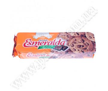 Печиво Roshen Есмеральда шоколадне з кусочками шоколадної глазурі 150 г.